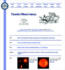 Old Tuorla Observatory home page